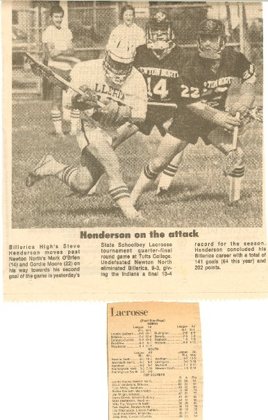 1978 vs Newton North - 2x All American Steve Henderson